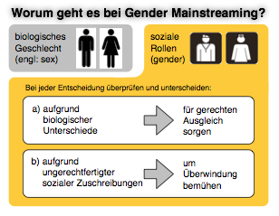 Übersicht Gender Mainstreaming