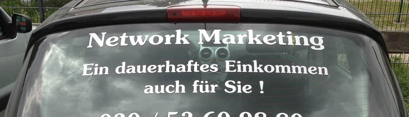 Autoaufkleber Network-Marketing
